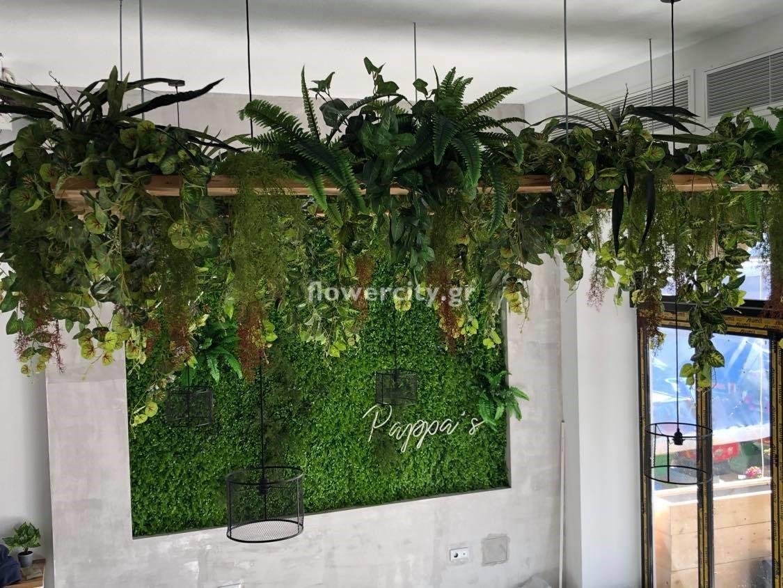 τεχνητά φυτά κάθετος κήπος
